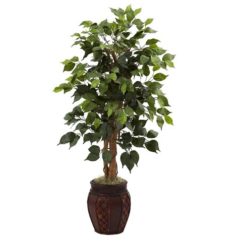 artificial trees 44 inch artificial ficus tree in decorative planter 5929