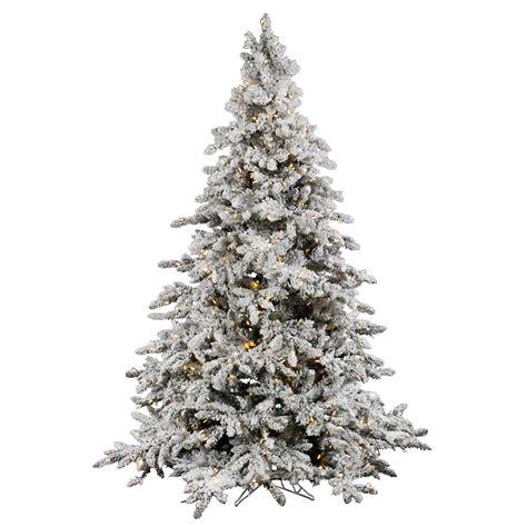 9 flocked tree 9 foot flocked utica fir tree clear leds