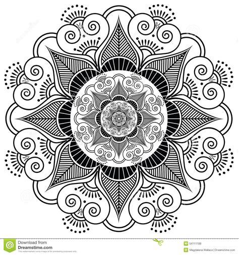 indian henna tattoo flower stock vector image 54111189