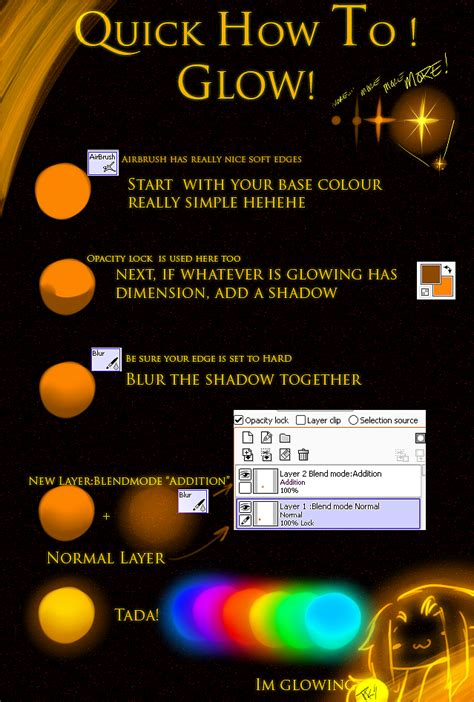 how to make glow in the paint tut glow by pkingsora on deviantart