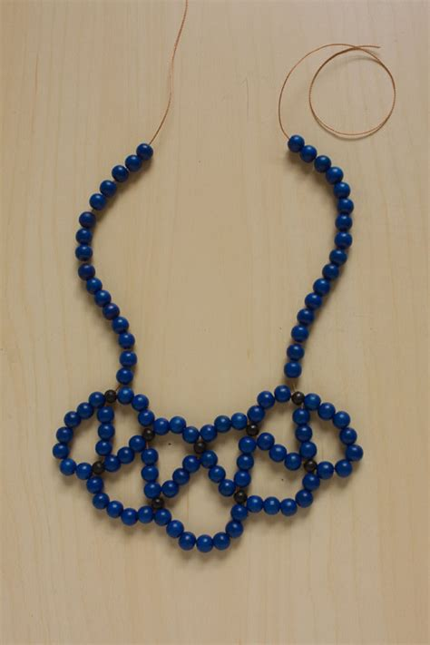 statement beaded necklace beaded statement collar necklace make and fable