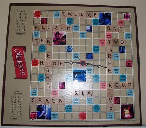 scrabble clock 17 best images about scrabble ideas on