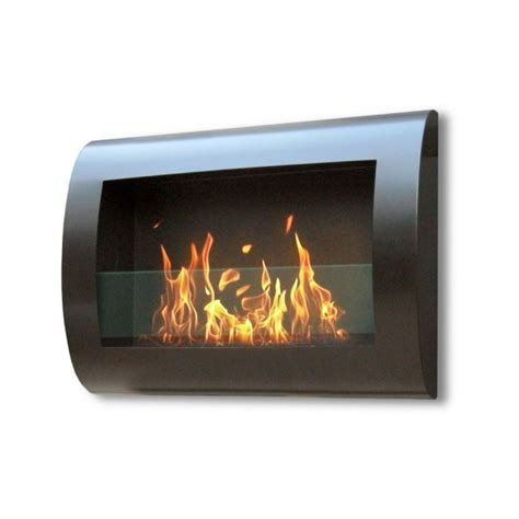 bio fuel fireplaces chelsea black indoor wall hung bio fuel fireplace