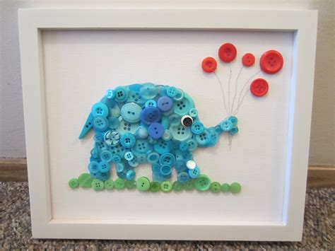 button craft projects button elephant in the room tutorial busted button