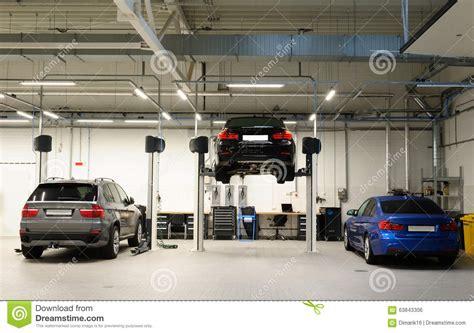 big car garage car repair shop stock photo image 63843306