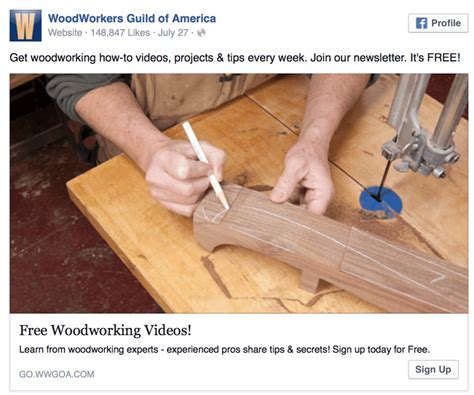 woodworkers of america lead ads generating and nurturing leads with