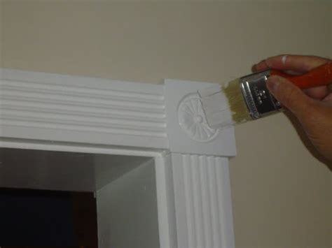 woodwork trim touch up painting of interior wood trim