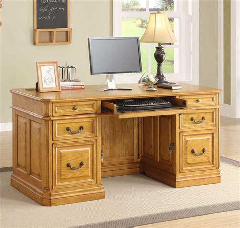 oak finish computer desk oak executive desk for office look