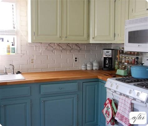 kitchen cabinets different colors painting kitchen cabinets two different colors decor