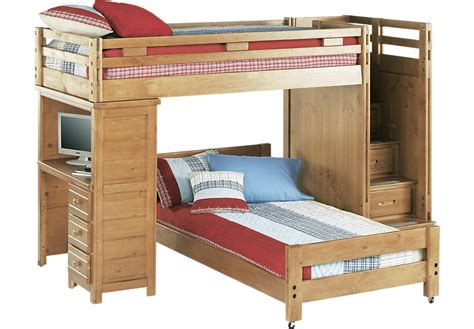 bunk with desk creekside taffy step bunk bed with desk beds