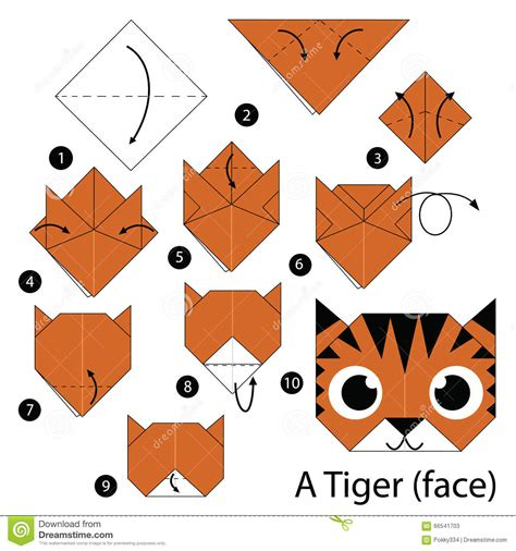 origami animal step by step step by step how to make origami a tiger