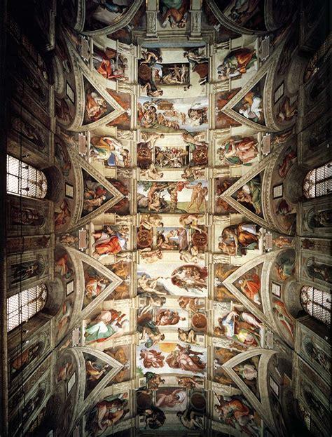 plafond de la chapelle sixtine brumes d un lecteur