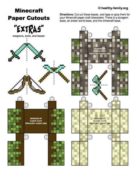 paper crafts for minecraft minecraft paper crafts get free herobrine steve