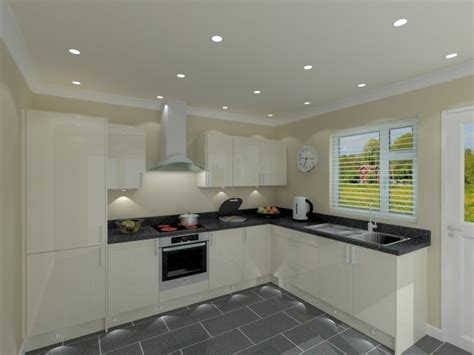 Design Line Kitchens quality budget l shaped kitchen package with cream doors