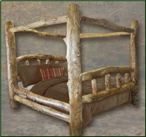 log frame beds 10 amazing cottage rustic log beds for a rustic bedroom