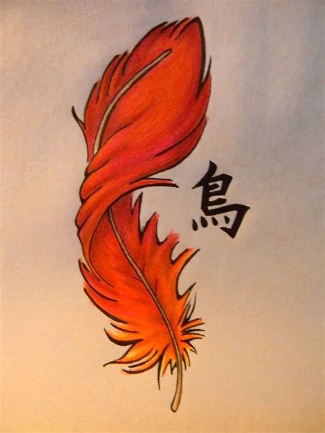 phoenix feather w different lettering wording plus the