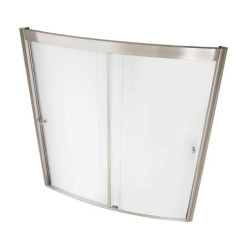 home depot bathtub shower doors american standard ovation 60 in x 58 in framed bypass