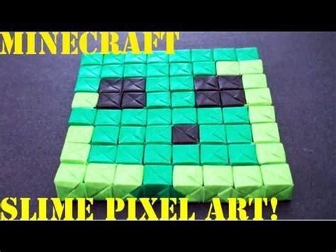 origami slime minecraft slime pixel no glue or sonobe