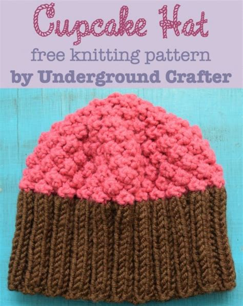 cupcake knitted hat pattern free 12 free knitting patterns for hats for underground