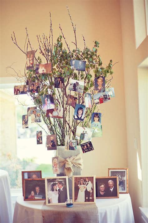 tree table decorations 26 creative diy photo display wedding decor ideas tulle