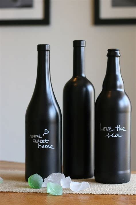 diy chalkboard bottles diy chalkboard paint ideas for home