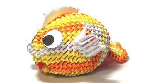 3d origami fish 3d origami koi fish tutorial remake
