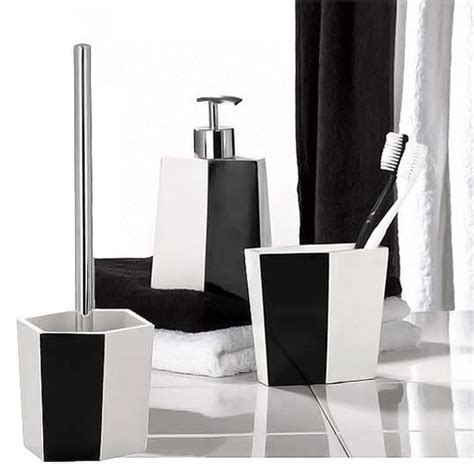 and black bathroom accessories wenko bicolour bathroom accessories set black white at