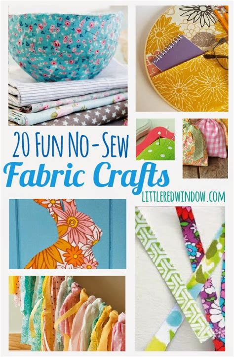 fabric craft projects 20 no sew fabric crafts diy craft projects