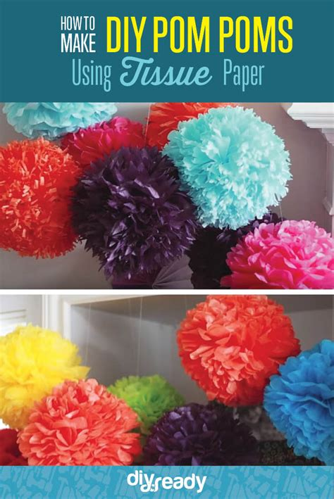 craft ideas using tissue paper how to make tissue paper pom poms diy projects craft ideas