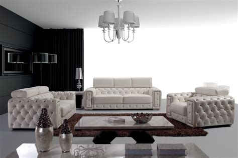 tufted leather sofa set lumy modern tufted leather sofa set ebay