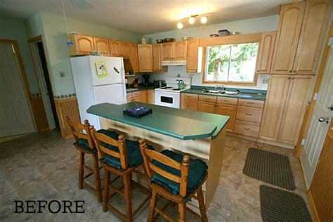 before and after cottage makeover before after chania s cottage kitchen in ontario