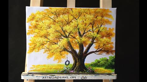 paint tree how to paint a tree with acrylic lesson11