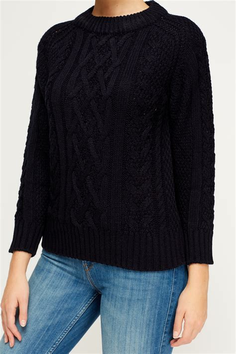 cable knit jumper cable knit casual jumper just 163 5