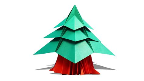 how to make a 3d origami tree 3d origami tree how to make origami