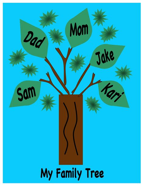 family tree craft for sola sunday school archive activity b1 lesson 3 family