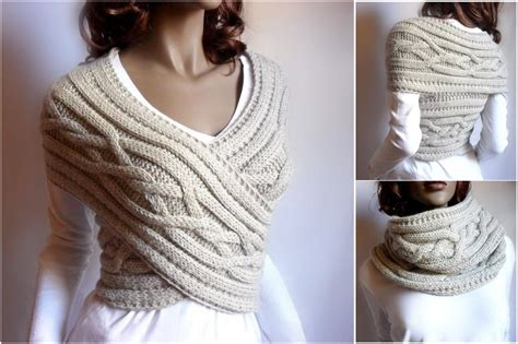 knitting a sweater wonderful diy knitted cowl scarf with free pattern