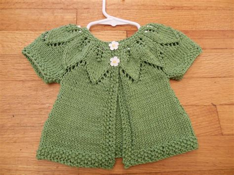 baby sweater knitting patterns in state knitting baby leaf sweater