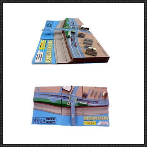 paper craft square overpass papercraftsquare free papercraft