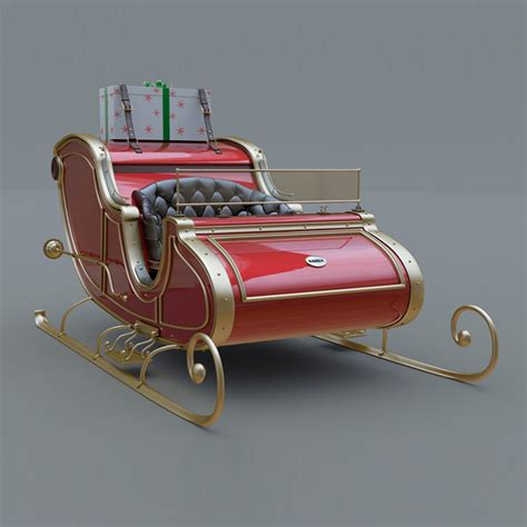 santa claus for sale santa claus sled by 3dmamay 3docean