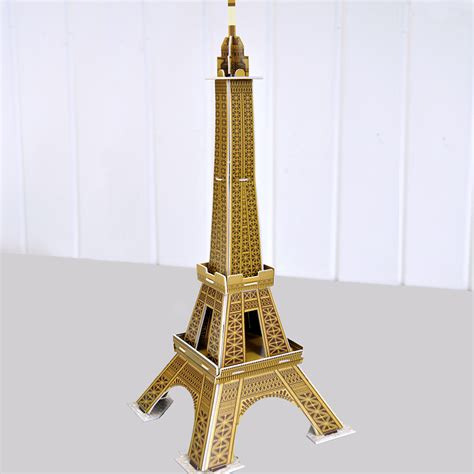 eiffel tower crafts for make your own landmark eiffel tower craft kit dotcomgiftshop
