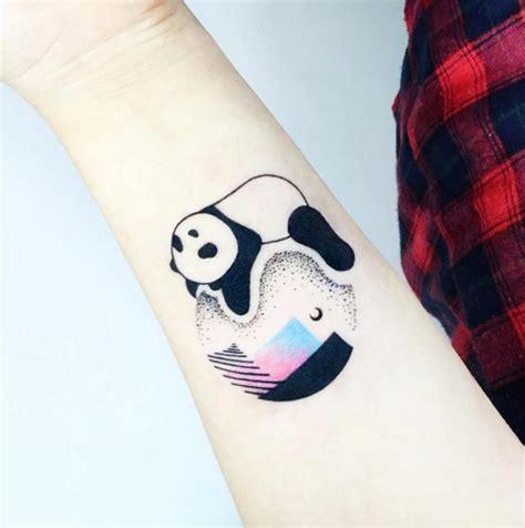 25 perfectly cute panda tattoos tattooblend