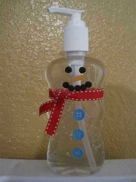 snowman crafts crafts and crap snowman sanitizer