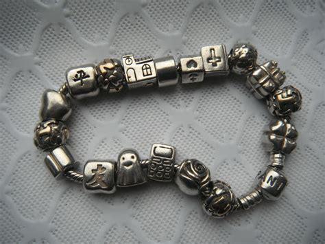 pandora bracelet stopper silver pandora bracelet 16 charms and 2 stopper