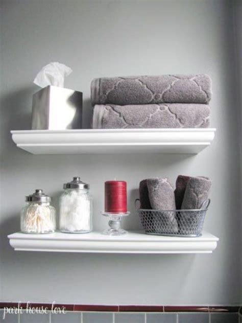 white shelves for bathroom 35 floating shelves ideas for different rooms digsdigs