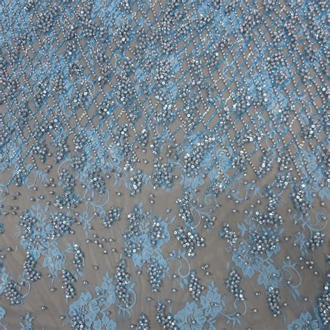pearl beaded fabric light blue heavily pearl beaded lace exclusive rex