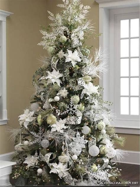 all white tree decorations 65 tree colour combinations to drool