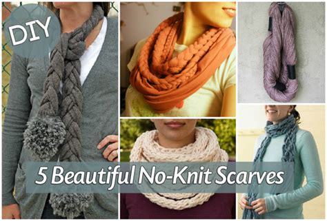 no knitting how to make a no knit scarf blissfully domestic