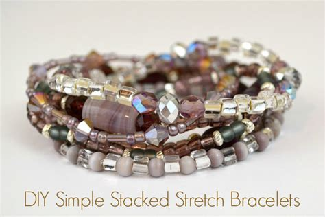 how to make a stretch bracelet with stretch bracelet tutorial how to make a simple stacked