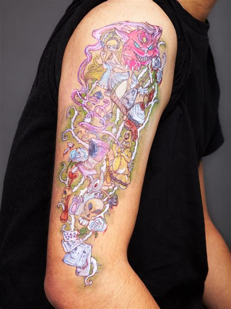 alice in wonderland tattoos designs ideas and meaning