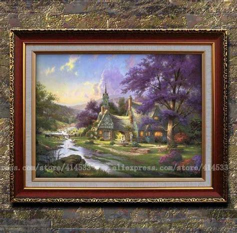 kinkade clocktower cottage kinkade prints of painting clocktower cottage